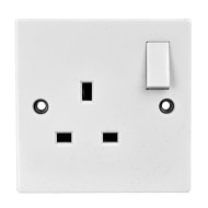 1 Gang Wall Socket - White 13 Amp