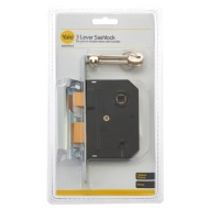 Yale 3 Lever Sashlock - Chrome 2.5