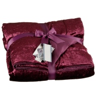 Crushed Velvet Throw