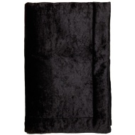 Crushed Velvet Throw - Charcoal