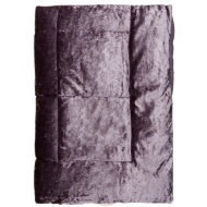 Crushed Velvet Throw - Mauve