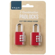 Luggage Combination Padlocks 2pk - Raspberry