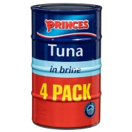 Princes Tuna in Brine 4 x 145g
