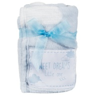 Baby Badge Blanket - Blue
