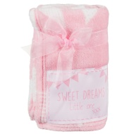 Baby Badge Blanket - Pink