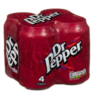 Dr Pepper Cans 4 x 330ml