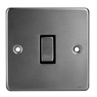 1 Gang 2 Way Light Switch - Stainless Steel
