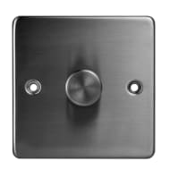 1 Way Dimmer Light Switch - Stainless Steel