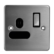 1 Gang Wall Socket - Stainless Steel 13 Amp