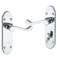 Elm Polished Chrome Effect Scroll Internal Lockable Door Handle