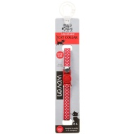Woven Adjustable Cat Collar - Red