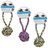 Dog Rope Toy - Ball Tug