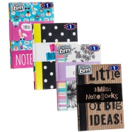 Mini Fashion Notebooks 3pk