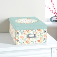 Floral Paper Storage Box Large - Life