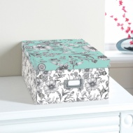 Floral Paper Storage Box Large - Floral