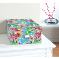 Floral Paper Storage Box Large - Watercolour Floral