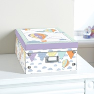 Kids Paper Storage Box Large - Balloons