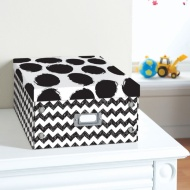 Kids Paper Storage Box Large - Spots