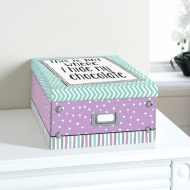 Bright Paper Storage Box Large - Not Where I Hide My Chocolate
