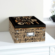 Bright Paper Storage Box Large - Keep Out