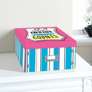 Bright Paper Storage Box Large - It's What's Inside That Counts