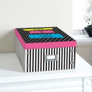 Bright Paper Storage Box Large - Keep It Safe