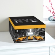 City Paper Storage Box Large - Yellow Cab
