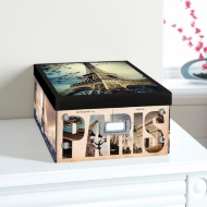 City Paper Storage Box Large - Eiffel Tower