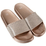 Ladies Jeweled Sliders - Gold