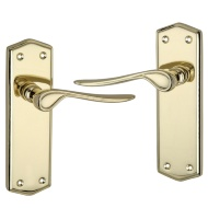Rowan Polished Brass Effect Internal Door Handle