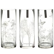 Printed Floral Glass Vase