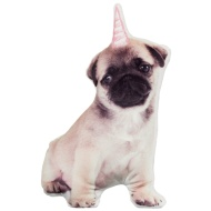 Animal Shaped Photographic Cushion - Pug