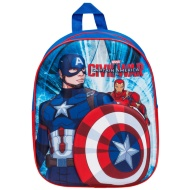 3D Marvel School Backpack - Captain America