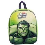 3D Marvel School Backpack - Hulk