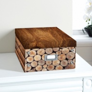 Natural Paper Storage Box - Logs