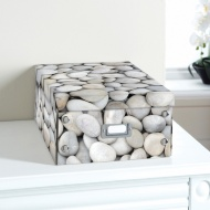 Natural Paper Storage Box - Pebble