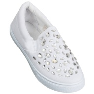 Ladies Fashion Canvas Shoes - White