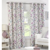 Elena Printed Floral Fully Lined Curtain 46 x 54