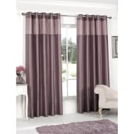 Pleated Top Border Fully Lined Curtain - 66 x 90