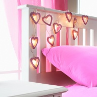 10 LED Glitter Heart String Lights