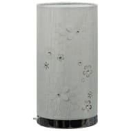 Lila Cutout Diamante Table Lamp - Silver