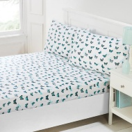 Butterfly Fitted Sheet Set 3pc