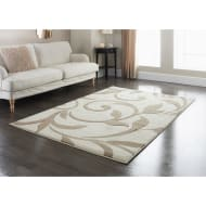 Traditional Scroll Rug - Taupe 110 x 160cm