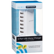 Optimum 6 Port USB Mains Charger With Fast Charging