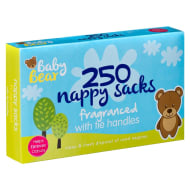Baby Bear Fragranced Nappy Sacks 250pk
