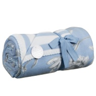 Double Sided Floral Fleece Throw