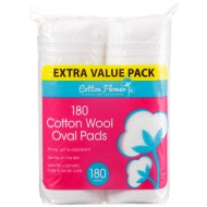 Cotton Wool Oval Pads 180pk