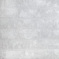 Anaglypta Brick Wallpaper - White
