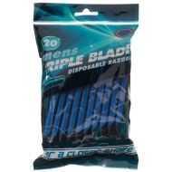Mens Triple Blade Disposable Razors 20pk