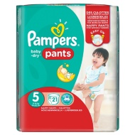 Pampers Baby Dry Pants Carry Pack 21pk - Size 5